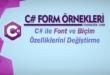 C# Örnekleri - Font ve Biçim Özelliklerini Değiştirme