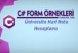 C# Örnekleri - Üniversite Harf Notu Hesaplama