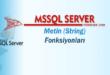 SQL Server – Metin (String) Fonksiyonları